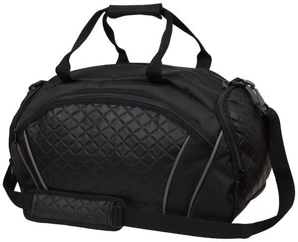 Torba sportowa York. Objęta wzorem zastrzeżonym torba sportowa z kieszenią z przodu zapinaną na zamek błyskawiczny oraz wewnętrzną kieszenią na zamek. Regulowany i .