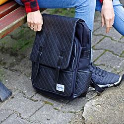 plecak vintage czarny