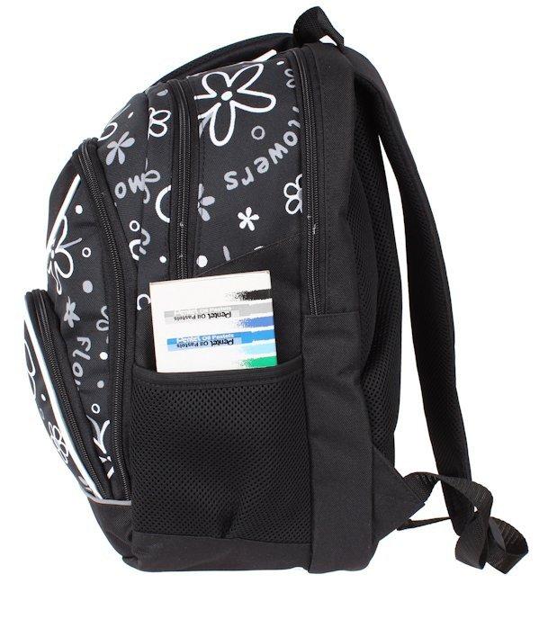 b889d885fb446 ... Plecak dla Dziewczynki Szkolny w Kwiaty sztywne plecy Zestaw do szkoły  ...