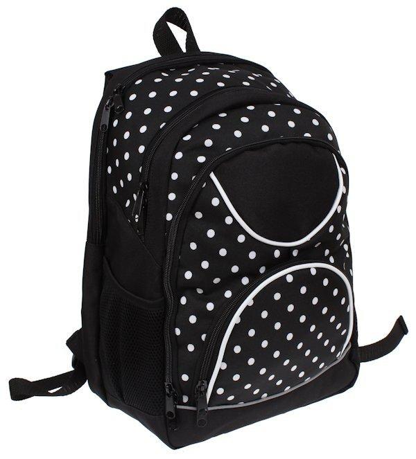 b5579a9ba01f8 ... Plecak dla dziewczynki szkolny w kropki sztywne plecy z piórnikiem ...