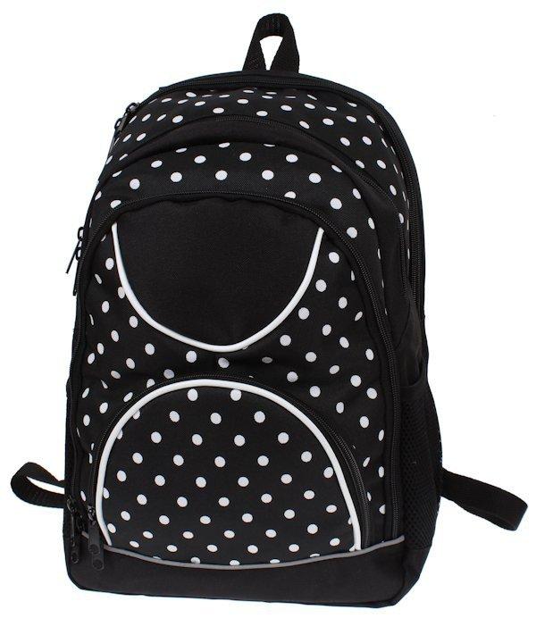 31c137b0d0394 ... Plecak dla dziewczynki szkolny w kropki sztywne plecy z piórnikiem ...