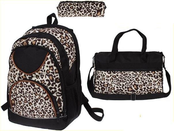 d86e77891fb0 ... Plecak dla dziewczyny zestaw szkolny torba piórnik panterka ...
