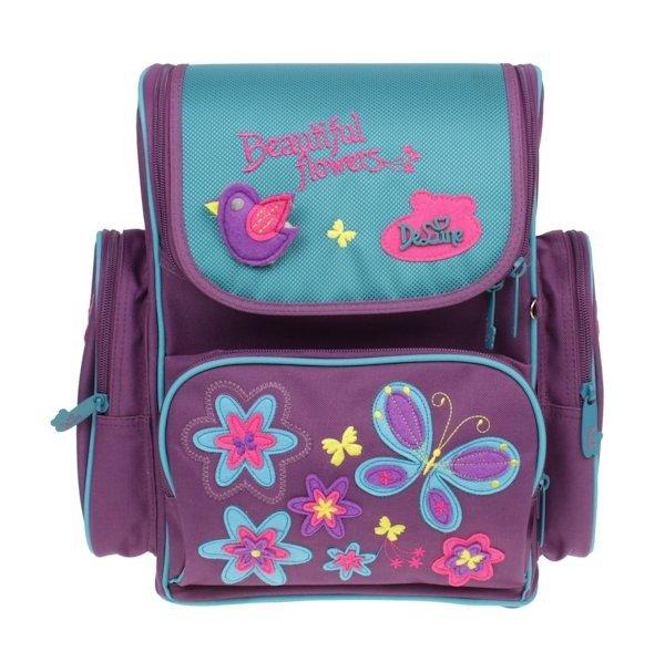 84b57a44170ce ... Tornister szkolny dla dziewczynki motylki Delune ...