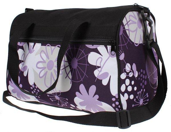 14c848e19e31b Plecak szkolny dla Dziewczynki w kwiaty fioletowe. Zestaw do szkoły ...