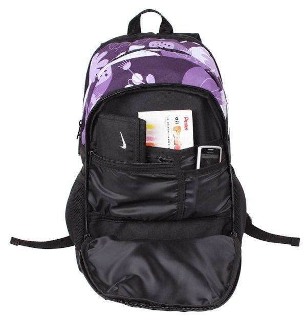 339786204eedd Plecak szkolny dla Dziewczynki w kwiaty fioletowe. Zestaw do szkoły ...