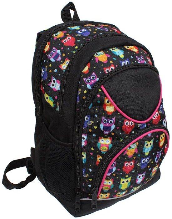 61256406c70bb ... Plecak szkolny dla Dziewczyny w Sowy sztywne plecy Polski produkt ...