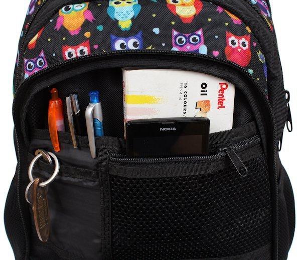 124104b85867e ... Plecak szkolny dla Dziewczyny w Sowy sztywne plecy Zestaw do szkoły ...