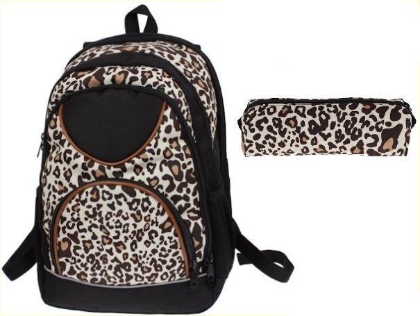 bea69d5f84c01 Plecak szkolny w panterkę dla Dziewczyny z piórnikiem | Sklep z ...