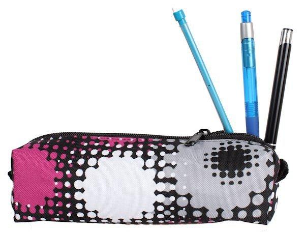 bf9dddcea45f0 Plecak szkolny z piórnikiem dla Dziewczyny w Kropy sztywne plecy Polski  produkt zestaw do szkoły