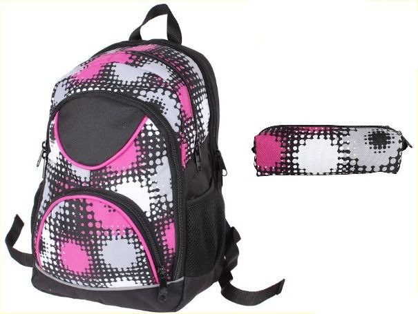 94d66ce4c4d6b ... Plecak szkolny z piórnikiem dla Dziewczyny w Kropy sztywne plecy Polski  produkt zestaw do szkoły ...