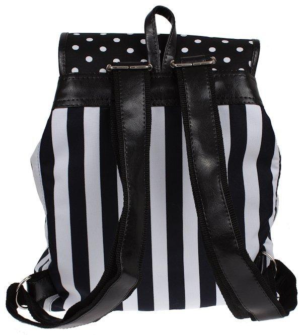 7e6addf25006b ... Plecak vintage blogerski w kropki i pasy blogerski A-4 ...