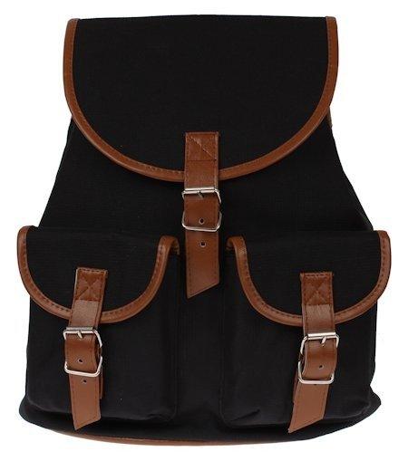 be6a14362cb2e ... Plecak vintage czarny blogerski a-4 ...