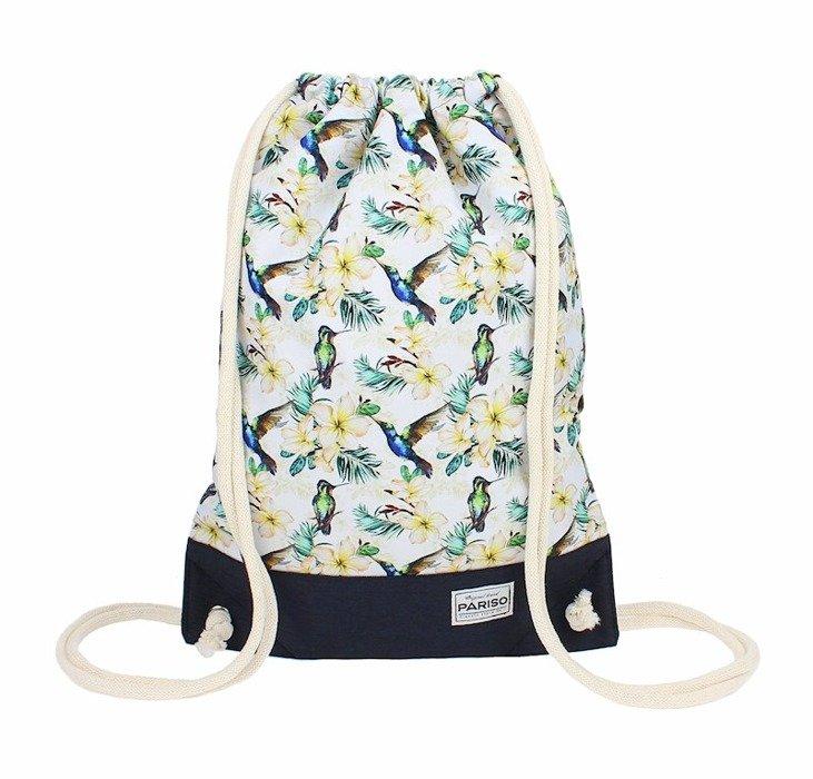 ac0916dbb61d8 Plecak worek elegancki w kwiaty | Sklep z torbami i plecakami Pariso.pl
