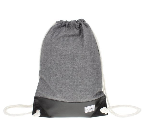 5d26f6ff15cf9 Plecak worek pojemny popielato-czarny Pariso   Sklep z torbami i ...