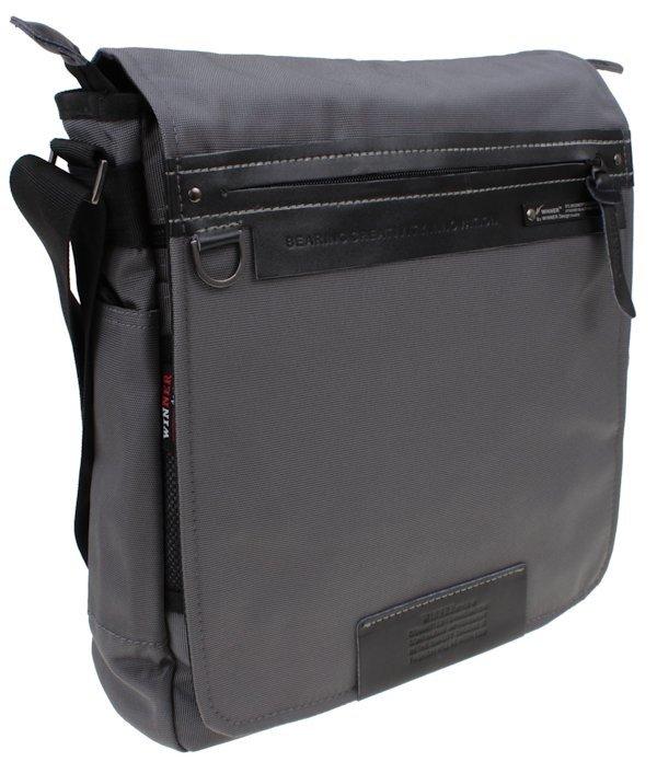82f42d4c536a5 Torba na ramię popielata z organizerem premium | Sklep z torbami i ...