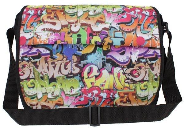 6dabe82122f2a ... Torba szkolna młodzieżowa na ramię wzór graffiti ...